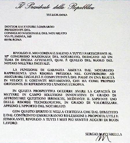 Mattarella FAX
