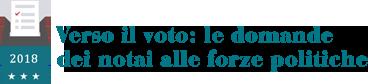 Verso il voto: le domande dei noti alle forze politiche