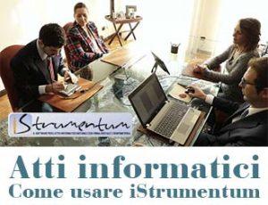 Atto informatico come usare iStrumentum