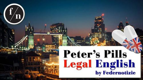 Peter's Pills - Legal English